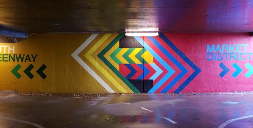 Street Murals by Graham Edwards Art seen at Bentonville, Bentonville - 8th & J Street bike/pedestrian tunnels