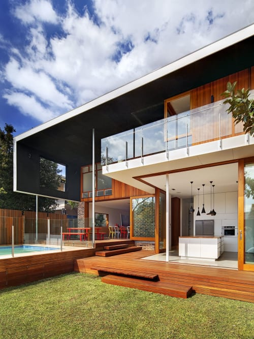 Architecture by CplusC Architectural Workshop seen at Private Residence, Castlecrag - Frankengray House