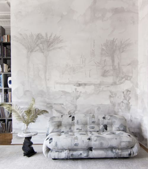 Murals by Eskayel seen at Private Residence, Brooklyn - Palmeraie