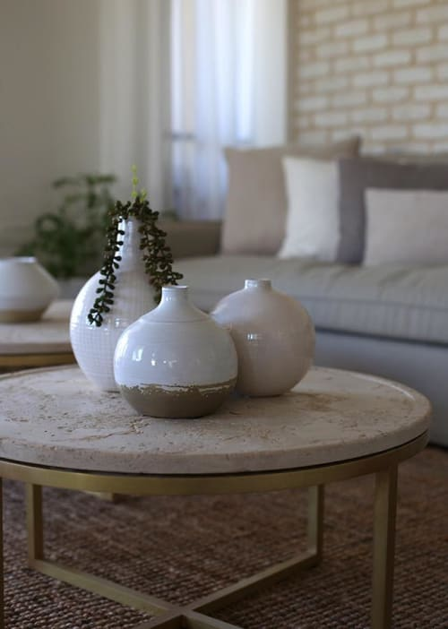 Tables by Linski Design - Concrete Art seen at Private Residence, Tel Aviv-Yafo - CLASSIC TABLE