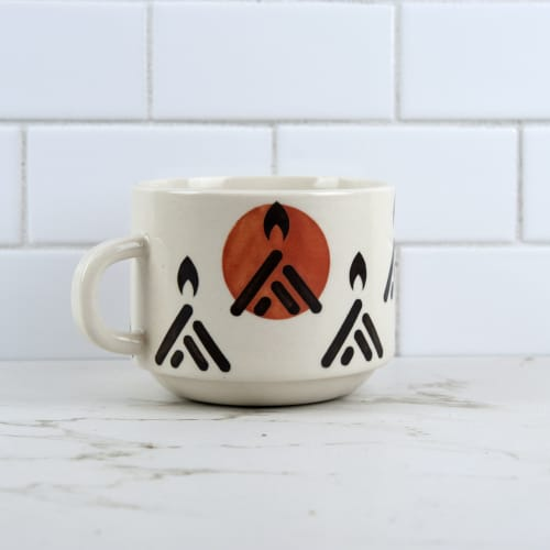 Cups by M.L. Pots seen at Creator's Studio, Borden - Campfire Coffee Mug
