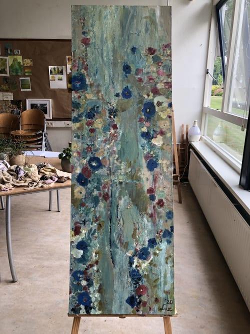 Paintings by Luz Artworks seen at Vuuren Mode BV Van, Beverwijk - Garden View