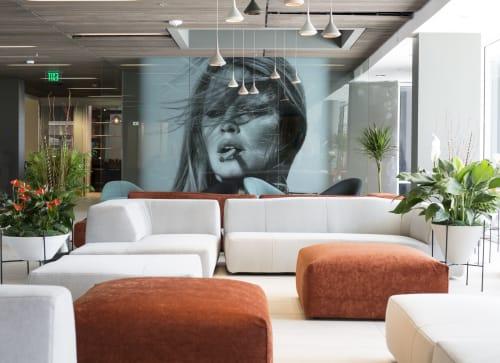 Murals by Studio Art Direct seen at Hotel Eastlund, Portland - Hotel Eastlund Art Installation