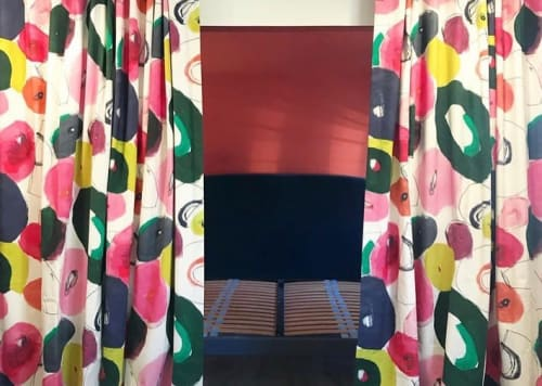 Curtains & Drapes by Heather Chontos seen at RSVP Hotel, Bozeman - Colorful Curtain