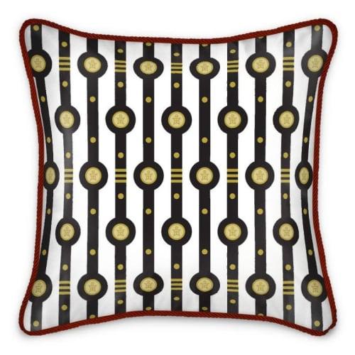 Pillows by Sean Martorana seen at Creator's Studio, Philadelphia - Shaman Straps Pattern Silk Cushion