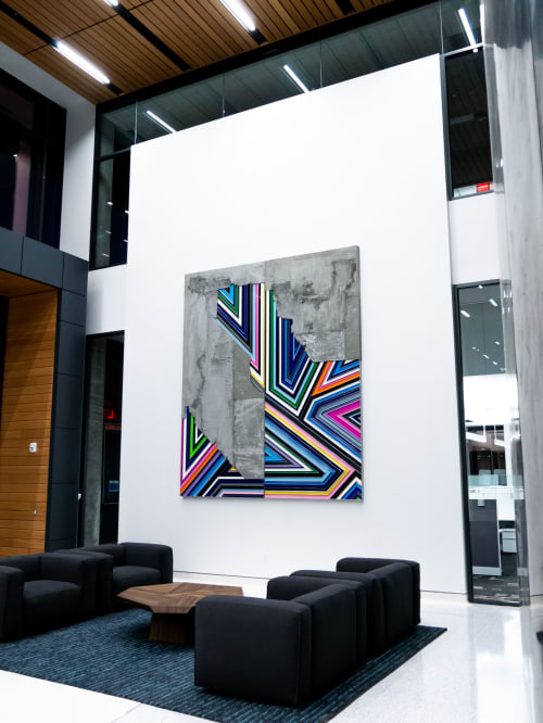 Sculptures by Troy Simmons seen at Charles Schwab Corporate Office, Austin - MOIETIES