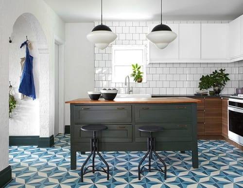 Tiles by Zia Tile seen at Private Residence, Pittsburgh - Cairo Cement Tile on HGTV's Restored by the Fords