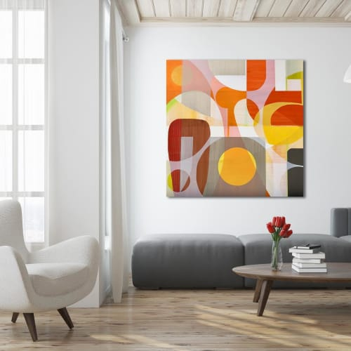 Paintings by TS ModernArt Studio seen at Private Residence, Los Angeles - No One Walks in LA