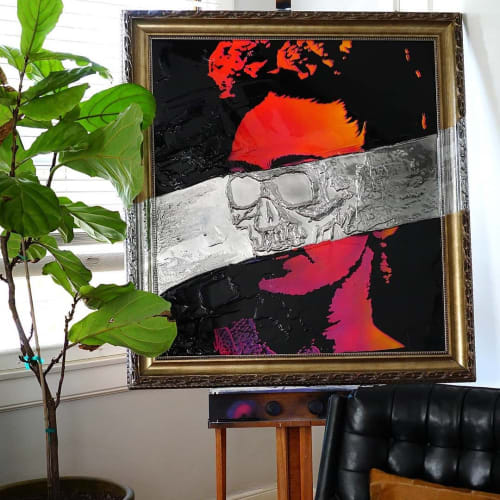 """Paintings by Nickhartist seen at Private Residence, Sacramento - """"I Love you More Than My Own Skin"""""""