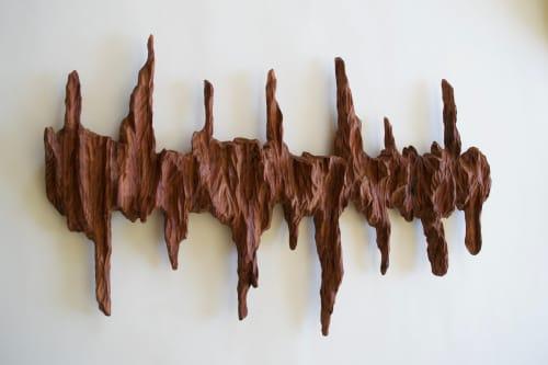 Ancient Wave - Wall Art Sculpture   Wall Hangings by Lutz Hornischer - Sculptures & Wood Art
