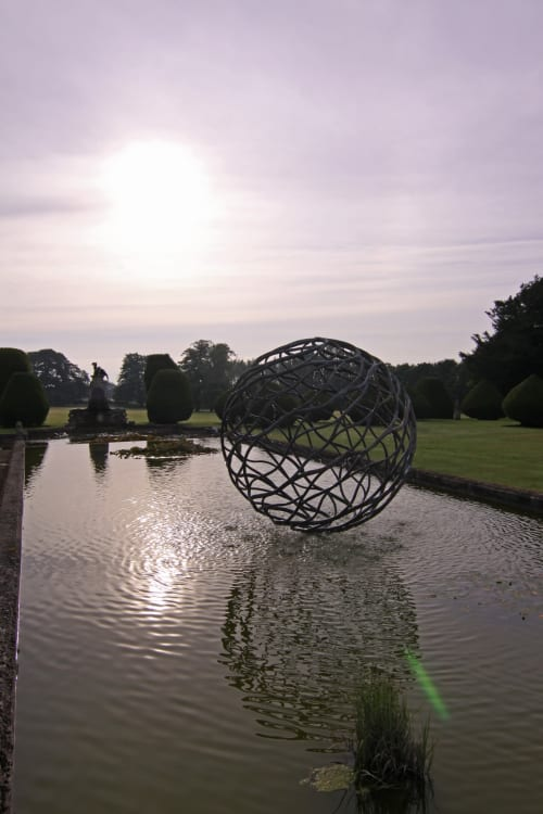 Sculptures by Giles Rayner seen at Burton Agnes Hall, Burton Agnes - Neptune Sculpture