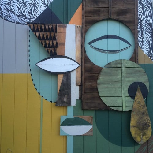 Street Murals by Expanded Eye seen at Sonoma County - Barn mural