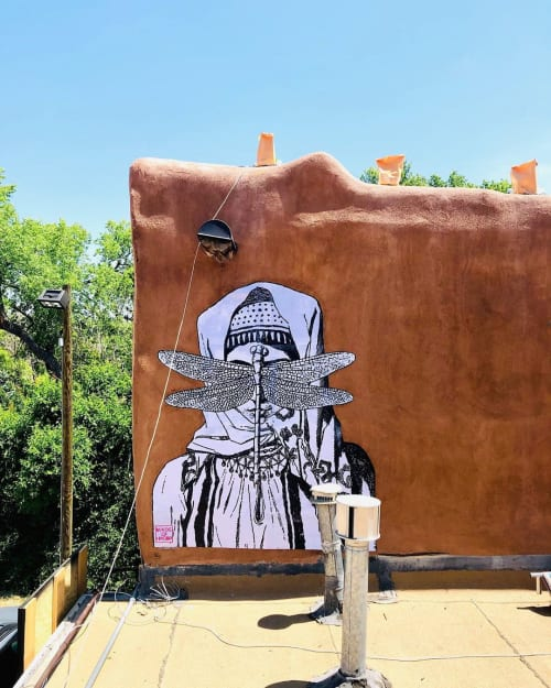 Street Murals by Made of Hagop seen at Canyon Road, Santa Fe - Behind the Cloud