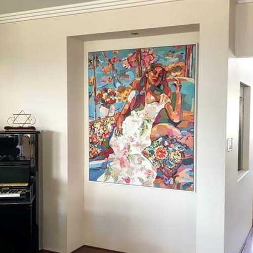 Paintings by Noemi Safir Artist seen at Private Residence, Perth - In Love mood