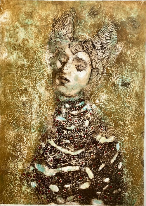 Collagraphs from my Idol series of monoprints | Paintings by Corinna Button
