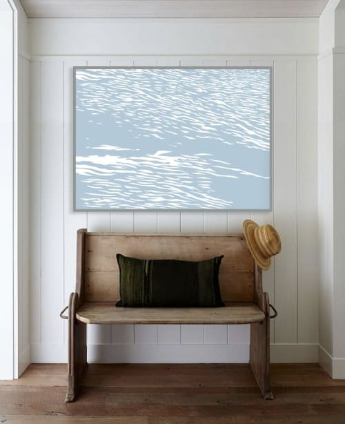 Art & Wall Decor by Richard Gene Barbera seen at Private Residence - EDITION PRINT OCEAN WAVES