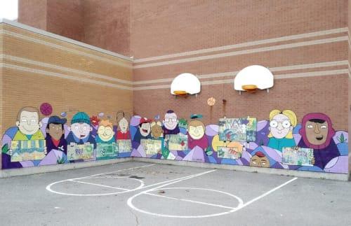 Street Murals by Lucas Saenger seen at École élémentaire publique Jeanne-Sauvé, Ottawa - Mural at École élémentaire publique Jeanne-Sauvé