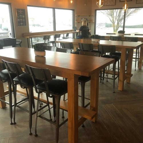 Tables by A&W Woodworking seen at Grace Coffee and Wine, Yorkville - Tables