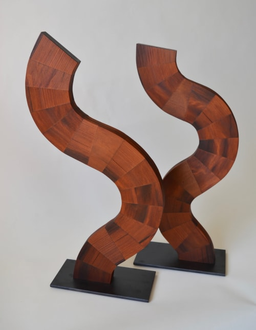 Koerly I and II - Sculptures | Sculptures by Lutz Hornischer - Sculptures & Wood Art