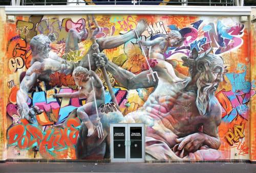 Murals by PichiAvo seen at Hard Rock Stadium, Miami Gardens - PichiAvo Mural