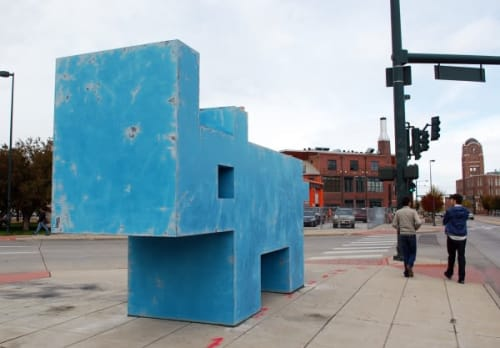 Public Sculptures by Michael Whiting seen at River North Art District, Denver - RiNo Rhino