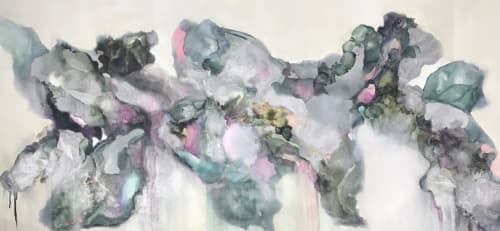 Paintings by Barbara Rubenstein seen at Private Residence, Houston - Waterfall Rhythms