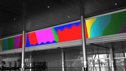 Signage by Allison Tanenhaus seen at Boston Convention and Exhibition Center, Boston - Video Wall