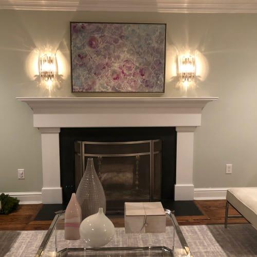 Paintings by Andrea Bonfils at Private Residence, Darien - Encaustic Painting