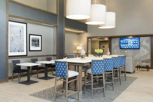 Pendants by Priority Lighting seen at Hampton Inn & Suites Michigan City, Michigan City - Custom Made Fabricated Pendants
