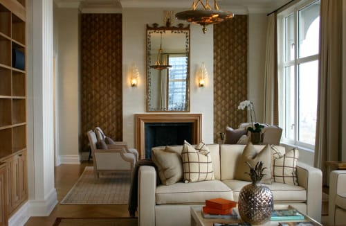 Wall Treatments by Callidus Guild seen at Central Park Apartment, New York - Central Park Apartment Wall Treatment
