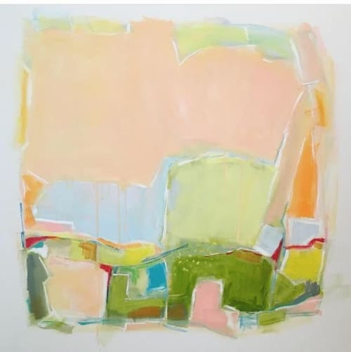Paintings by Sarah Trundle seen at Private Residence, Charlottesville - Shapes of Spring