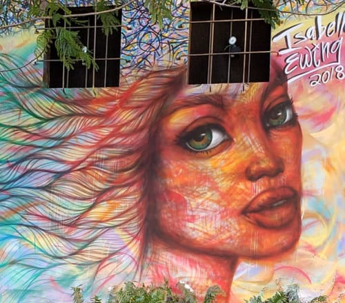 Street Murals by Isabelle Ewing seen at Northwest 2nd Avenue & Northwest 23rd Street, Miami - Mural for Wynwood Arts District
