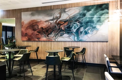 Paintings by Ella Baudinet seen at Novotel Melbourne Central, Melbourne - Novotel Melbourne Central Artwork