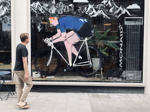 Art Curation by MrDiMaggio seen at Maats Cycling Culture, Amsterdam - Alba Optics candy ride