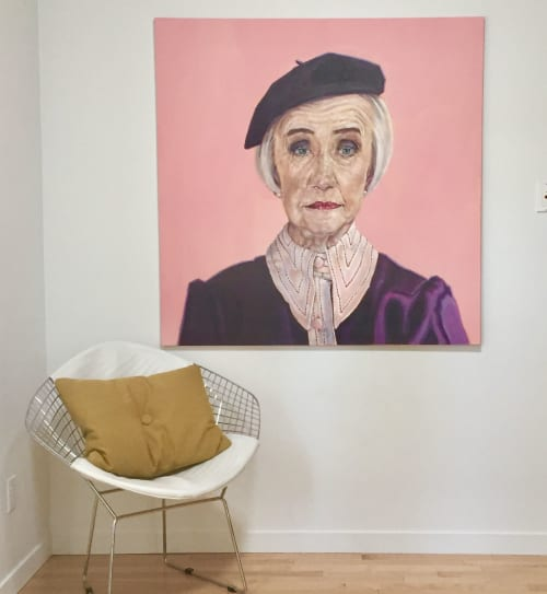 Paintings by Shana Wilson: TIME Magazine Cover Artist seen at Edmonton, Edmonton - Raspberry Beret