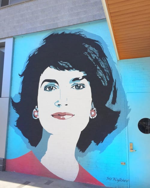 Murals by Ivo Koytchev seen at Dacha Navy Yard, Washington - Jackie O' Mural