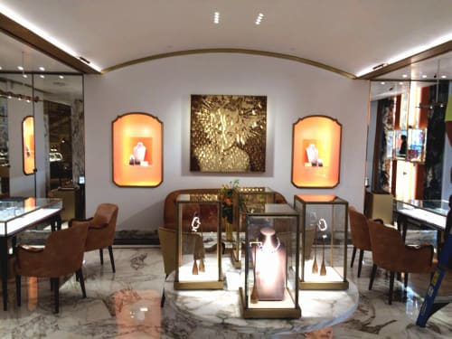 Paintings by Paolo Campagnolo seen at BVLGARI, Manhattan, New York - Liz