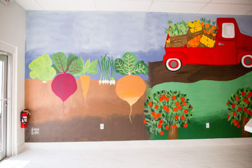 Murals by Shannon Kirsten seen at The Daily Dose Juice Garden, Bradenton - Farm To Juicer Scene