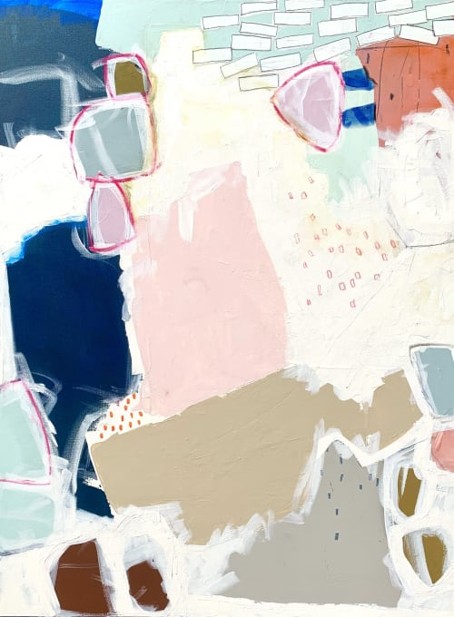 Paintings by Glenna Adkins seen at Private Residence, Kansas City - Abstract Painting
