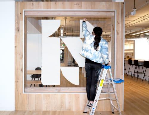 Macrame Wall Hanging by ANTLRE - Hannah Sitzer seen at InsideSource, San Francisco - Logo weaving for Insidesource