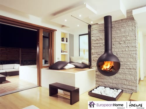 Interior Design by European Home seen at 30 Log Bridge Rd, Middleton - Bathyscafocus Indoor Wood Fireplace