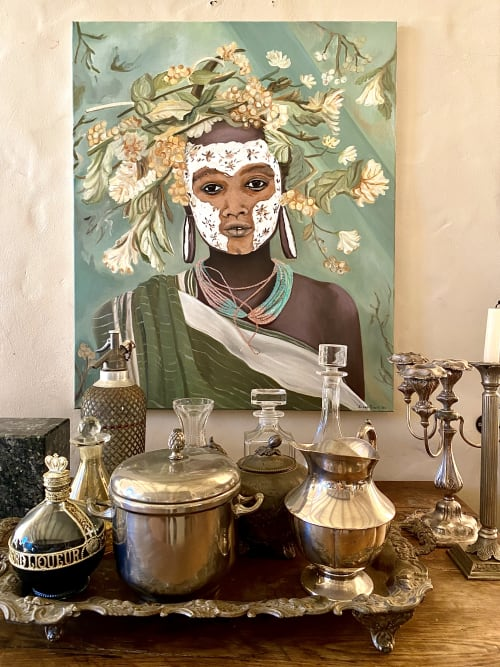Paintings by Susi Rood Art seen at Private Residence, Al Rideem - Spring Bride