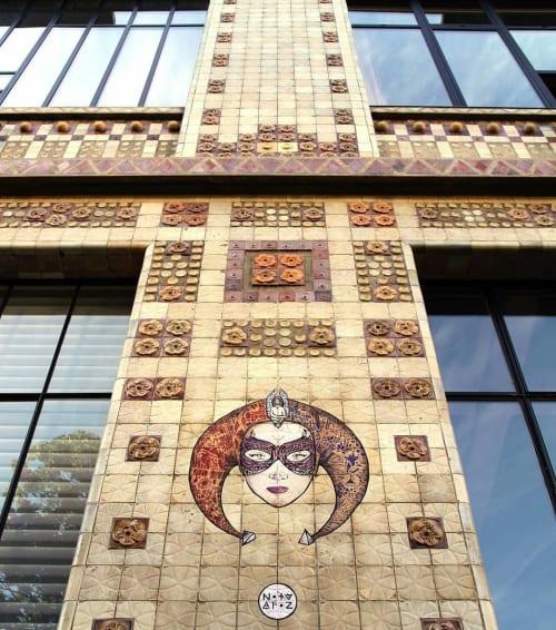Street Murals by Noty Aroz seen at 14ème Art, Paris - Mural (Harley Quinn)