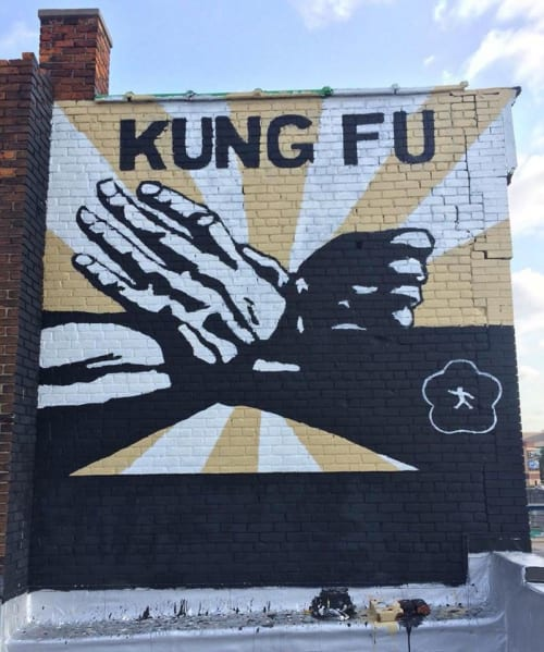 Murals by Anthony Lee seen at Eastern Market, Detroit, Detroit - Detroit Kung Fu Academy