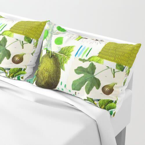Pillows by Pam (Pamela) Smilow - Shams Green Botanical