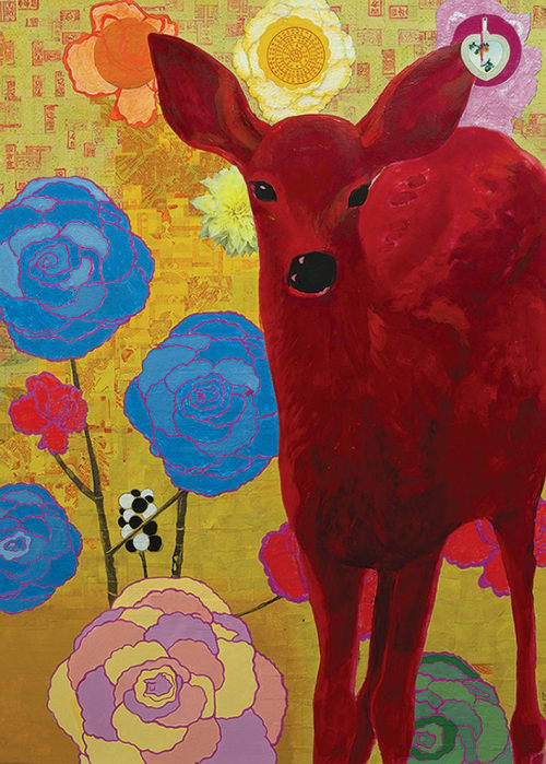 Paintings by Katherine Baronet seen at Lisa Bennett Salon, Dallas - Mystical Charmer :: SOLD