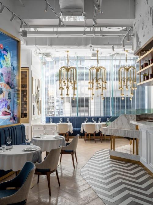 Interior Design by Sundukovy Sisters seen at Estiatorio Keia - Estiatorio KEIA Restaurant by Sundukovy Sisters