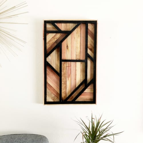 Wall Hangings by Tipsy Oak seen at Private Residence, Phoenix - 3D Deco Lath Wall Art
