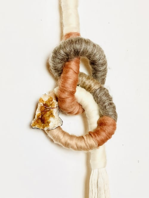 Wall Hangings by Trudy Perry seen at Creator's Studio, Topanga - KNOTTY WALL SCULPTURE WITH CITRINE