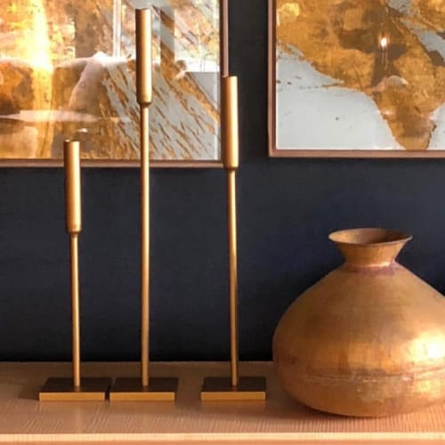 Art & Wall Decor by vanCollier seen at Private Residence, Washington Park - Slim Candle Sticks